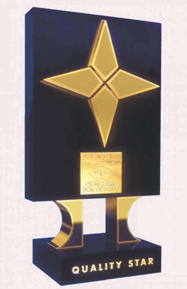 GOLD STAR FOR QUALITY - GENEVA 2000 YEAR